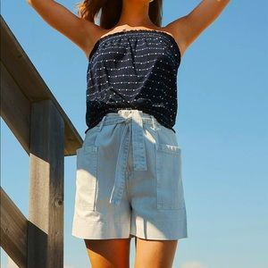 Paperbag ANTHRO Denim Shorts